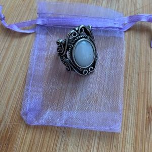 Jewelry - Antique Style Silver Natural Gemstone Moonstone